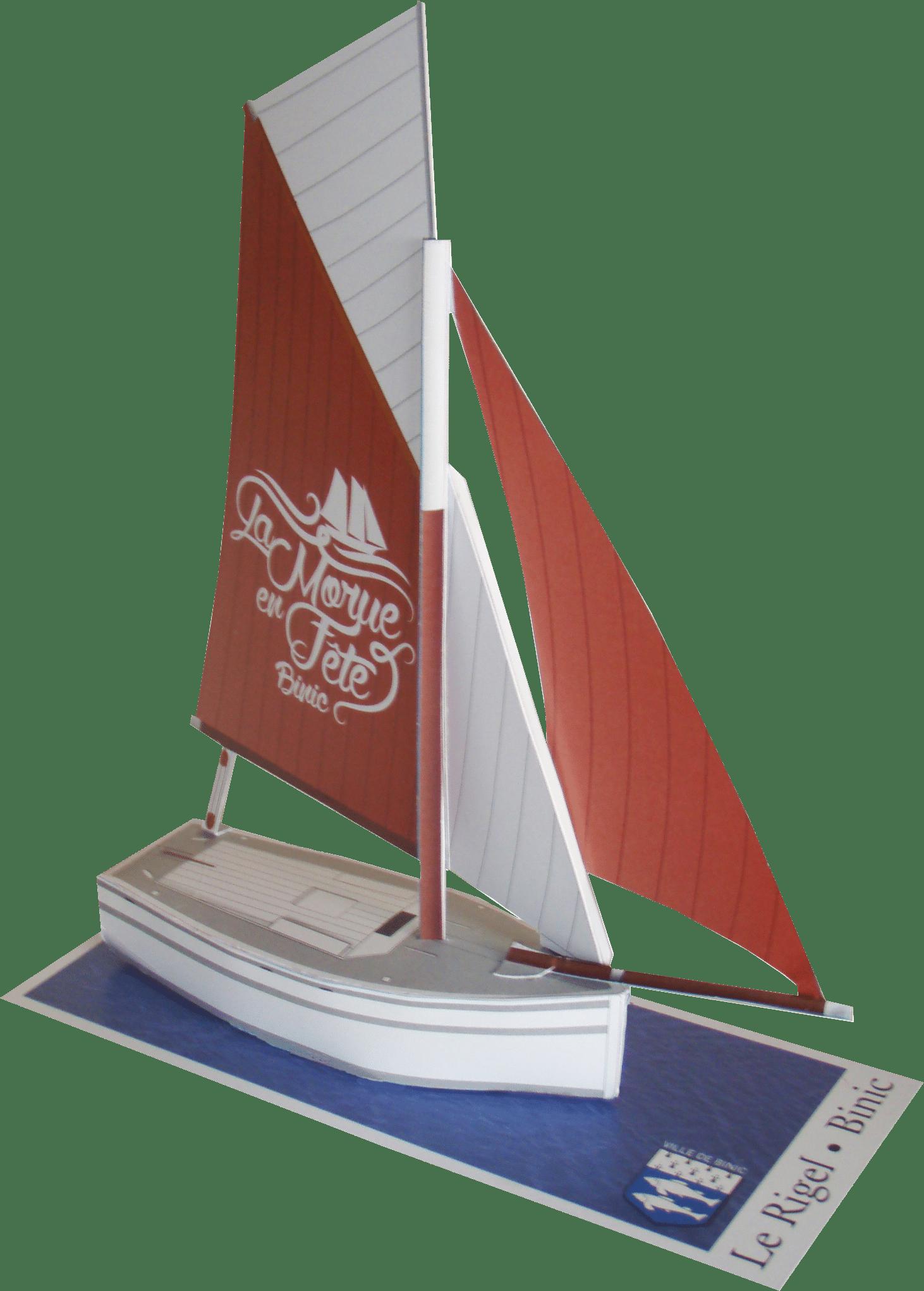 Maquette so-boat du Rijel, le bateau emblématique de la fête de la morue à Binic