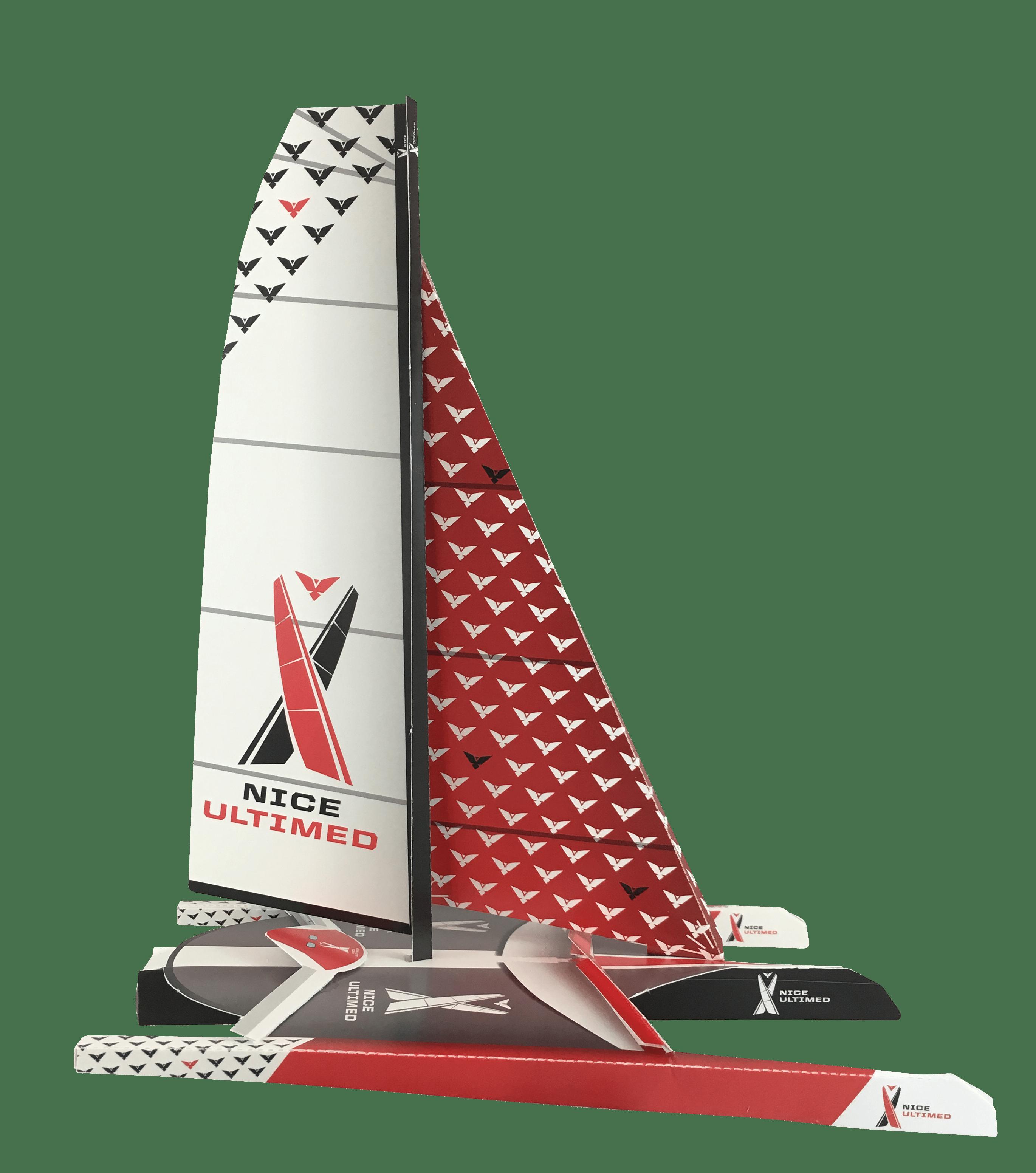 IMG_5163.png - Maquette en papier réalisée pour la première édition de la Nice Ultimed, en 2018